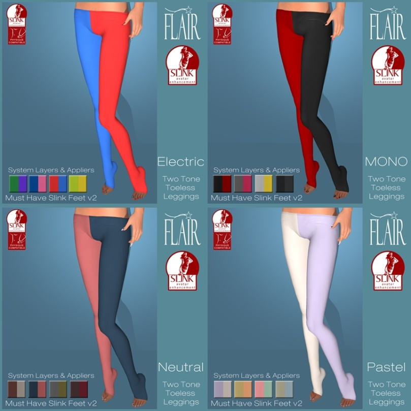 Flair - Two Tone Leggings - V2 Slink Updates needed